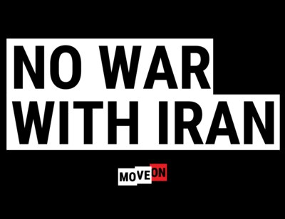 No War With Iran Sticker for Free