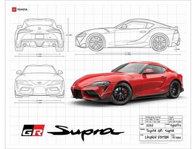 2020 GR Supra Blueprint Poster for Free