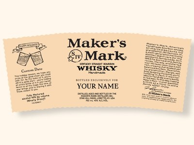 Personalized Maker's Mark Whiskey Labels for Free