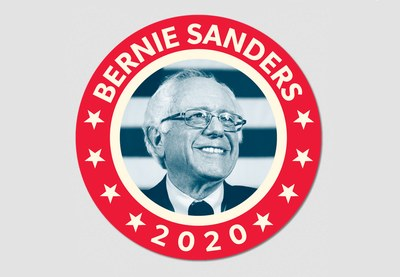FDR-inspired Bernie Sticker for Free