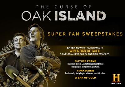 History Channel Curse of Oak Island Super Fan Sweepstakes