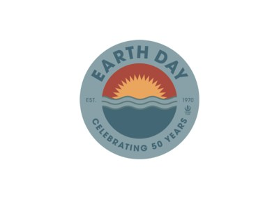 50th Anniversary of Earth Day Sticker for Free