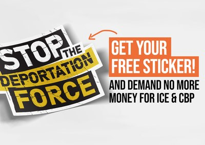 Stop the Deportation Force Sticker for Free