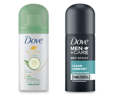 Dove Dry Spray Antiperspirant for Free