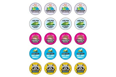 Encourage Compassion TeachKind Stickers for Free