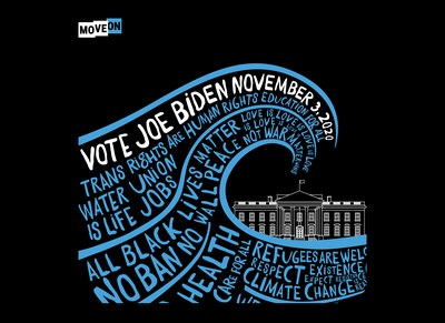 Blue Wave 2020 Sticker for Free
