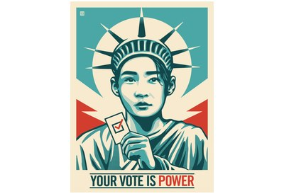 Your Vote is Power Sticker for Free