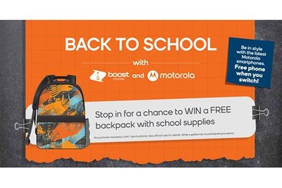 Backpacks with School Supplies at Boost Mobile for Free