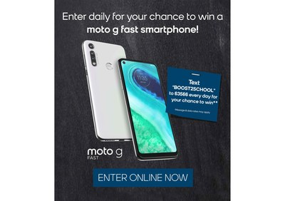 Boost Mobile Back to School Moto G Sweepstakes