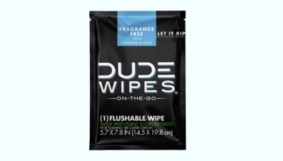 Free Sample of DUDE Wipes