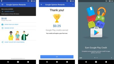 Free Money - Google Surveys App