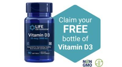 Free Life Extension® Vitamin D3 Sample