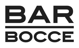 Bar bocce letter forms black