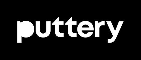 Puttery logo white blackbckgrnd