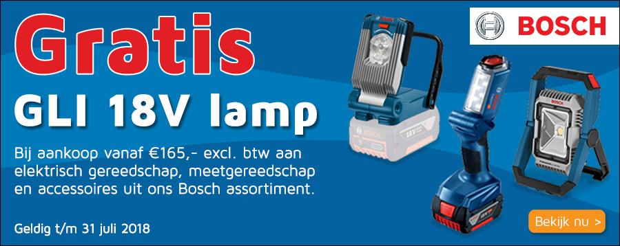 Bosch gratis lamp actie