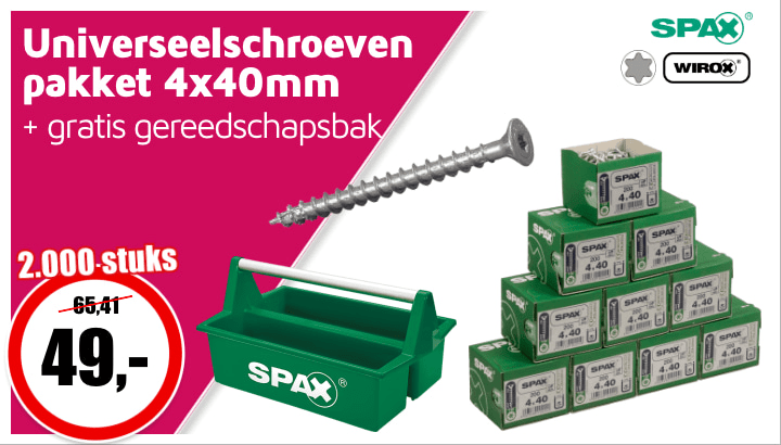 Spax screw package cover #2