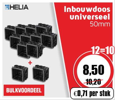 Helia inbouwdoos universeel 50mm