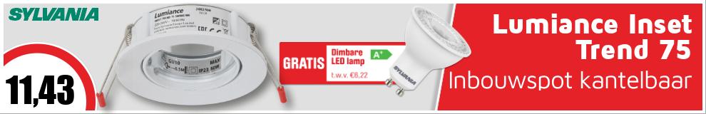 Lumiance Inset Trend 75 inbouwspot kantelbaar IP20 Wit