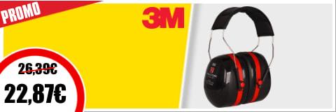 Optime casque antibruit 3M PELTOR rouge 35dB SNR III