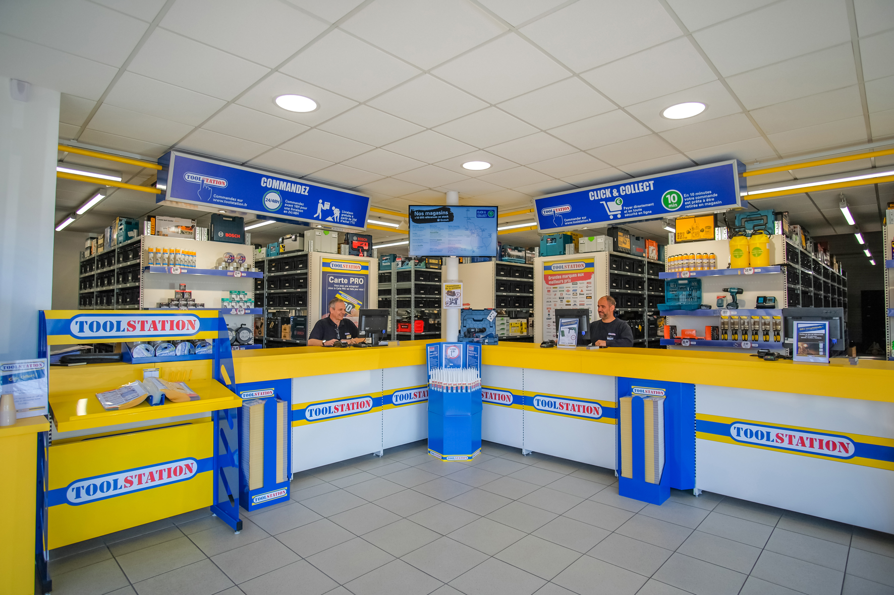 Intérieur magasin Toolstation
