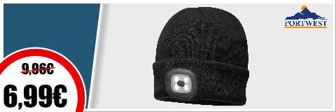 Bonnet LED portwest 6,99€