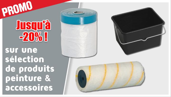 Jusqu'à -20% sur une sélection de produits peinture & accessoires