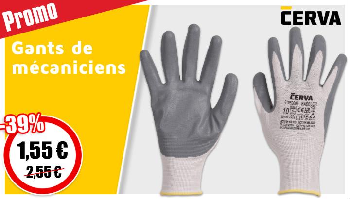 gants de mecanicien cerva 1,55€