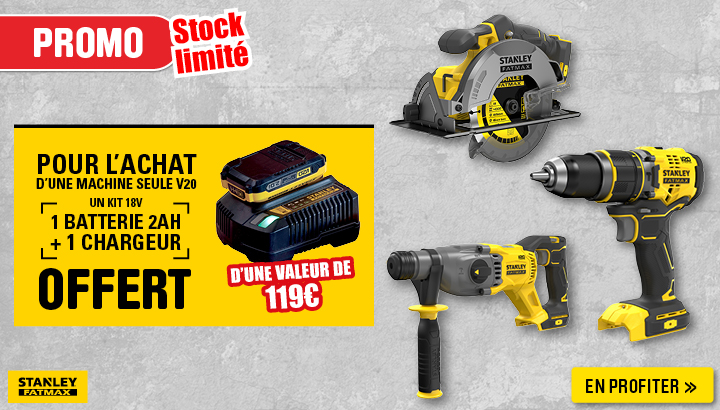 Kit chargeur + batterie 2Ah Offert