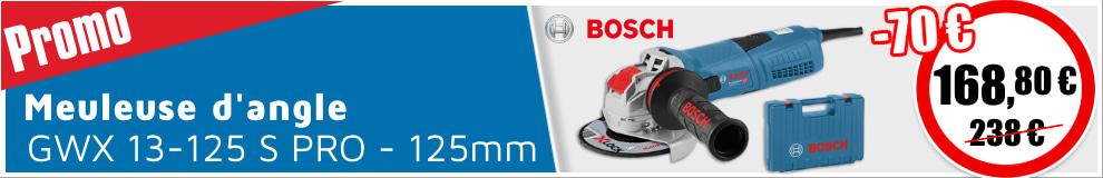 Meuleuse d'angle Bosch GWX 13-125 S PRO 1300W Ø125mm