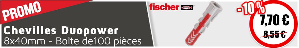 Chevilles Fischer Duopower 8x40mm