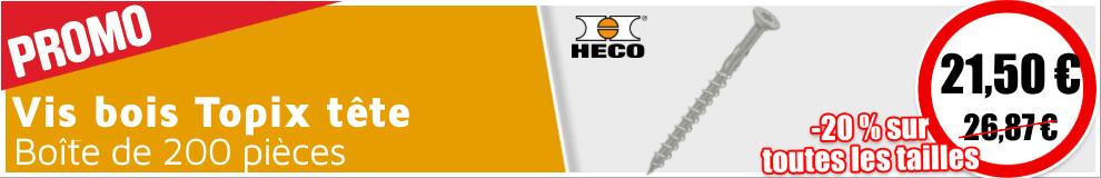 Vis bois Heco Topix tête fraisée TX 5,0x80 T25