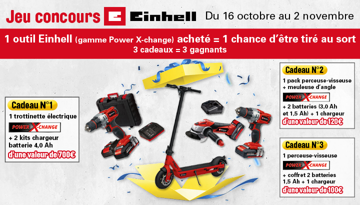 Jeu concours Einhell