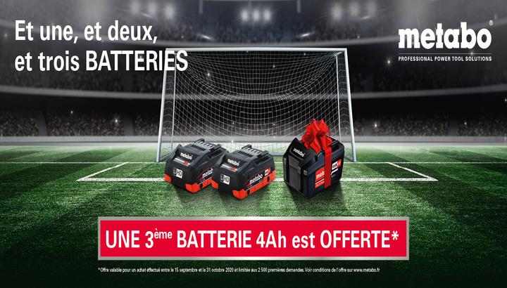 3e batterie offerte - Metabo