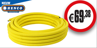 Henco gas Alupex meerlagen buis in mantel 16x2mm 25m