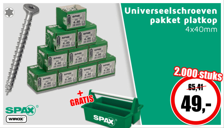 Spax universeelschroeven pakket #2