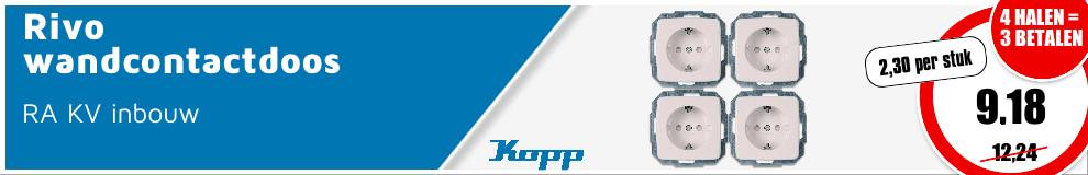 ACTIE Kopp wandcontactdozen