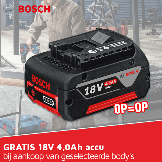 Cat71 Bosch - gratis accu