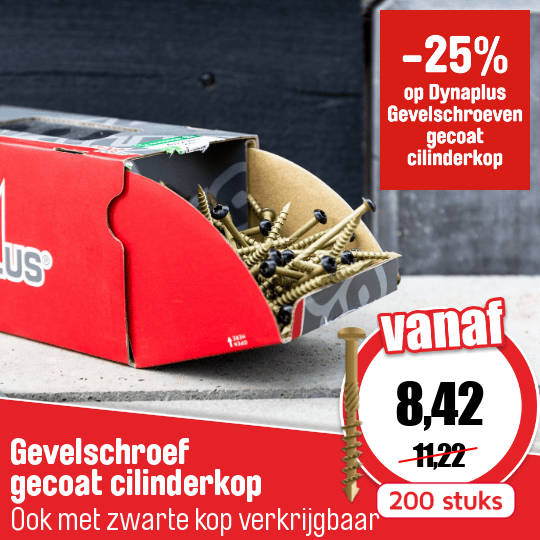 Cat 71 Back Cover Dynaplus gevelschroeven Product nr.12877