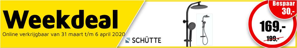 Weekdeal14 - Schütte Madura Fresh douchesysteem met thermostatische mengkraan zwart mat #1
