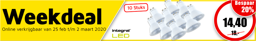 Weekdeal9 - Integral LED lamp spot GU10 #1