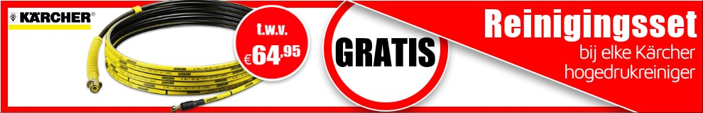 Maandeal september - Kärcher gratis reinigingsset #1
