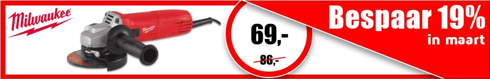 DPT100_990x160 | Maanddeal maart - Milwaukee haakse slijpmachine #1-2