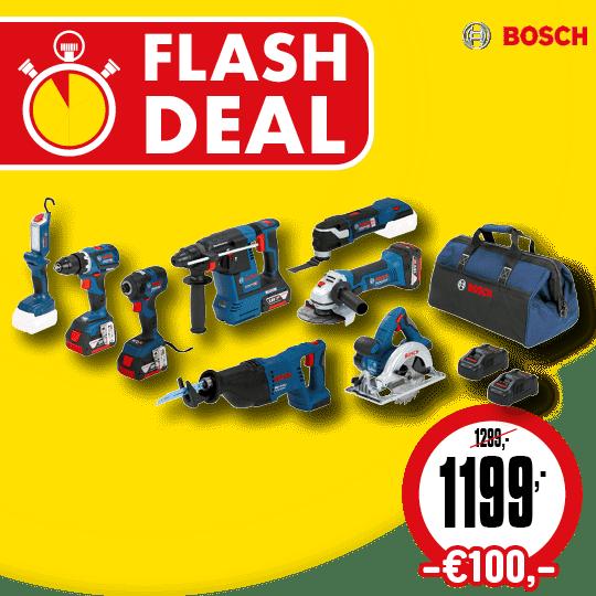 Bosch combi set flash deal