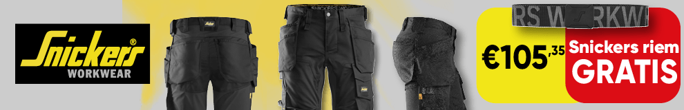 DPT100 | Back cover - Snickers broek met gratis riem - Werkkleding en PBM 1-1