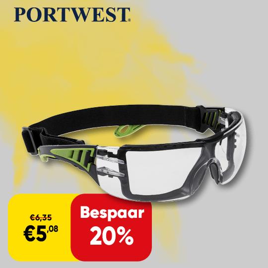 Promo_540x540 | Cat 73 Back cover - Portwest veiligheidsbril korting D07