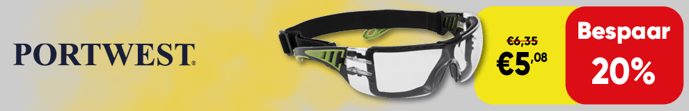 DPT100 | Back cover - Portwest bril 20 pr korting - Werkleding en PBM 1-2