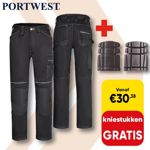 Promo_540x540 | Cat 73 LP- Portwest werkbroek gratis kniestukken D025