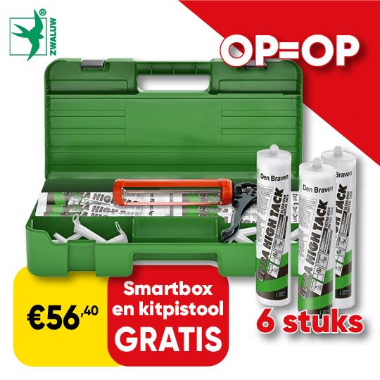 Promo_540x540 | Cat 73 P3 - Zwaluw kit gratis smartbox en kitpistool D015