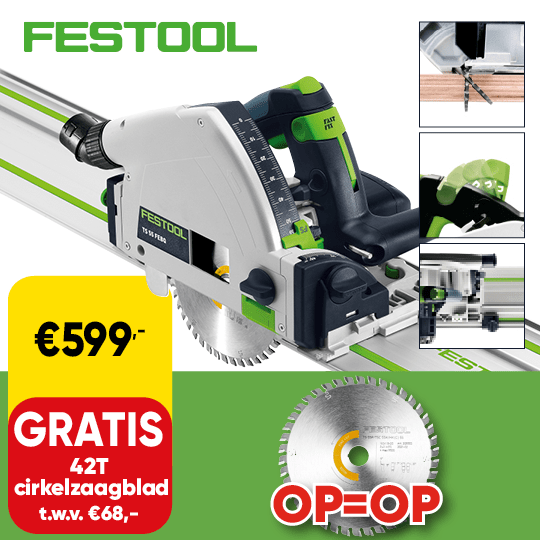Promo_540x540 | Cat 73 P8 - Festool zaagmachine gratis zaagblad D020