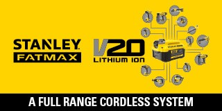 Stanley Fatmax Range. Redeem a Free Battery. Find out More